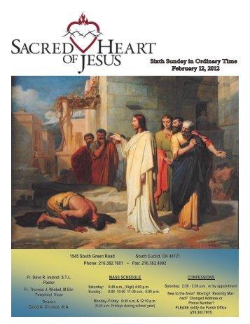 February 12, 2012 - Sacred Heart of Jesus Parish