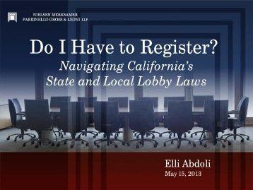 Do I Have to Register? - sacrs