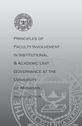 Principles of Faculty Involvement in Institutional & Academic Unit ...