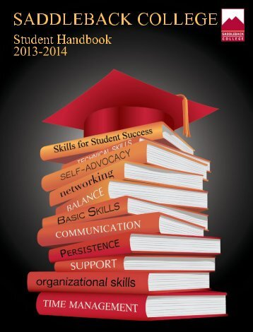 Student Handbook for 2012 - 2013 - Saddleback College