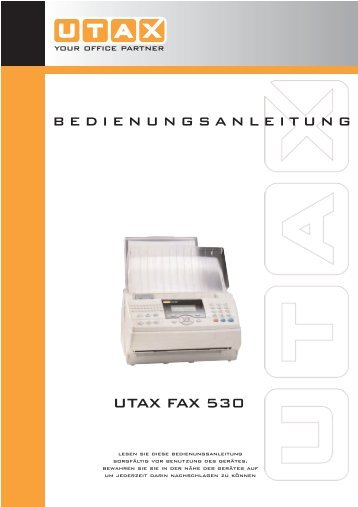 User-Manual Laserfax Utax530 / TA-930 - Fax-Anleitung.de