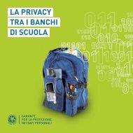 LA PRIVACY TRA I BANCHI DI SCUOLA