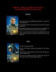 Doğal Kahramanlar Karakterlerini Tanıyalım - Sadibey