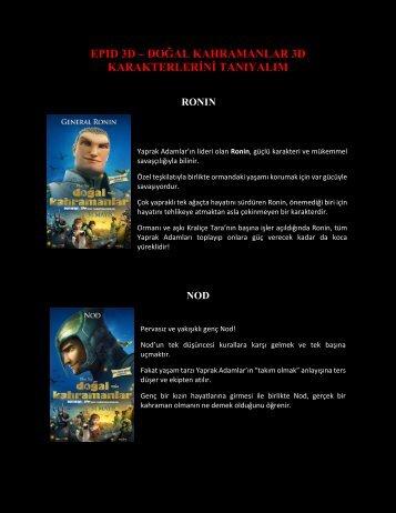 Doğal Kahramanlar Karakterleri