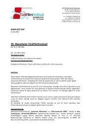 20. Mannheim TürkFilmFestivali - Sadibey
