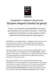 Dünyanın belgeseli İstanbul'da geliyor - Sadibey