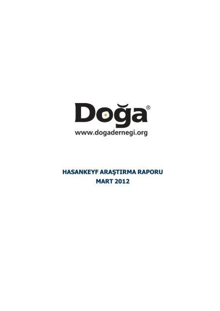 hasankeyf araştırma raporu mart 2012 - Sadibey