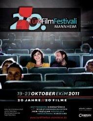 20. Türk Film Festivali Mannheim Dergisi - Sadibey