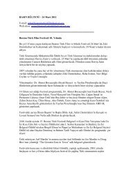 BASIN BÜLTENİ – 24 Mart 2011 E-mail: info ... - Sadibey