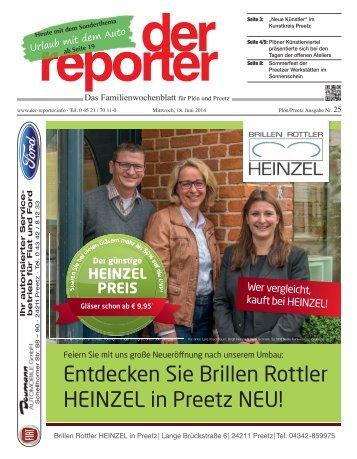 der reporter - Das Familienwochenblatt für Plön und Preetz 2014 KW 25