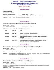 Printable session schedule - SAE