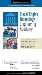 Diesel Engine Technology Engineering Academy - SAE International