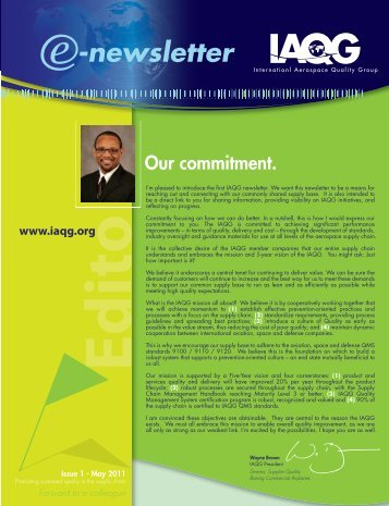 IAQG Newsletter - Issue 1 - May 2011 - SAE International