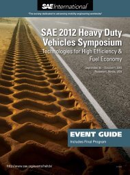 SAE 2012 Heavy Duty Vehicles Symposium