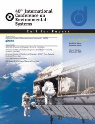 40th International Conference on Environmental ... - SAE International