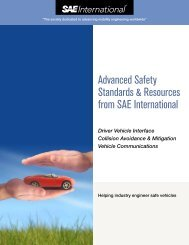 Advanced Safety Standards & Resources from SAE International