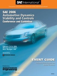 SAE 2006 Automotive Dynamics Stability and ... - SAE International