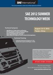 SAE 2012 SUMMER TECHNOLOGY WEEK
