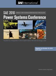 Power Systems Conference - SAE International