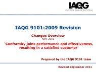 IAQG 9101:2009 Revision - SAE