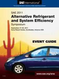 Alternative Refrigerant and System Efficiency - SAE