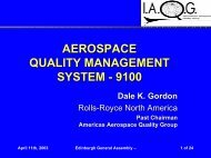 aerospace quality management system - 9100 - SAE International