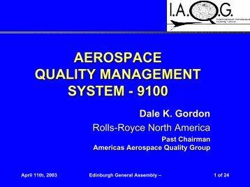 aerospace quality management system - 9100 - SAE International
