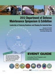 2012 Department of Defense Maintenance Symposium ... - SAE