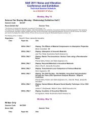 SAE 2011 Noise and Vibration Conference and ... - SAE International