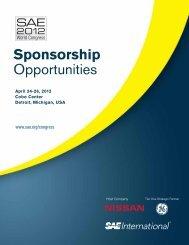 Sponsorship Opportunities - SAE