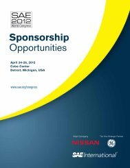 Sponsorship Opportunities - SAE