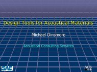 Design Tools for Acoustical Materials