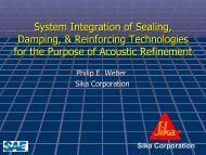System Integration of Automotive Sealers, Dampers ... - SAE