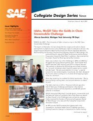 Collegiate Design Series News - SAE International
