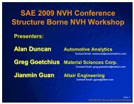 Structure Borne NVH Workshop - SAE International