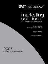 marketing solutions - SAE