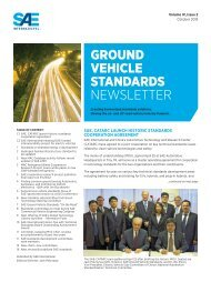 October Ground Vehicle Standards Newsletter - SAE International
