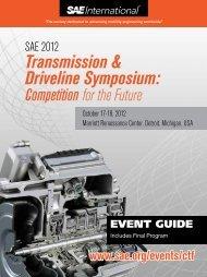 SAE 2012 Transmission & Driveline Symposium