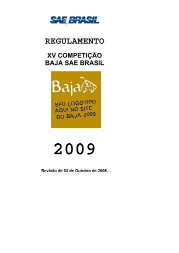 regulamento xv competição baja sae brasil 2009