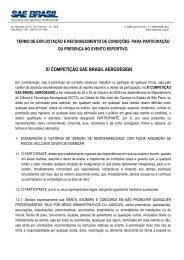 XI COMPETIÇÃO SAE BRASIL AERODESIGN