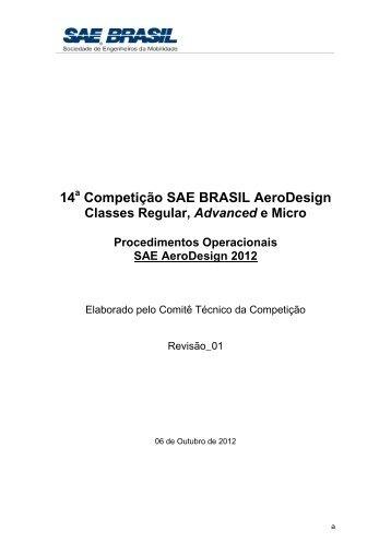 SAE AeroDesign 2012_Procedimentos Operacionais ... - SAE Brasil