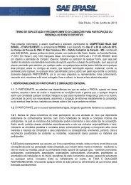 Informativo 01 - Termo de Participação - Baja Sudeste - SAE Brasil