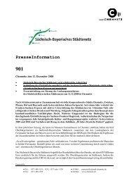 PresseInformation 901 - Sächsisch-Bayerisches Städtenetz