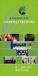 CHORWETTBEWERB - Sächsischer Musikrat eV
