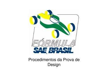 Procedimentos da Prova de Design - SAE Brasil