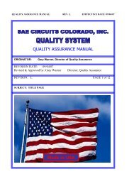 quality assurance manual - SAE Circuits