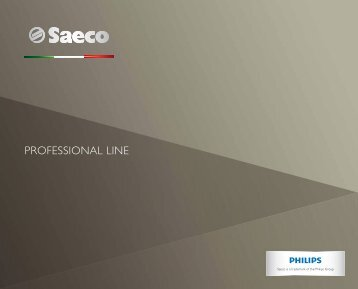 Download Professional Catalogue - Saeco