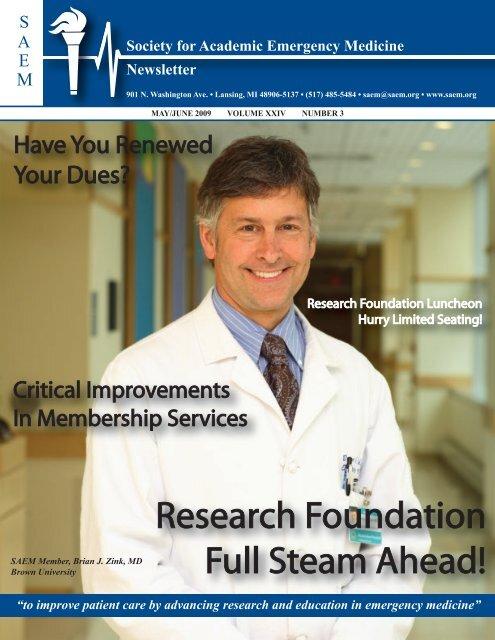 Society for Academic Emergency Medicine Newsletter