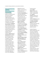Academic Emergency Medicine Journal Author Guidelines Read our ...