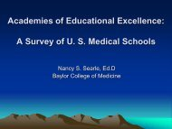 A Survey of US Medical Schools
